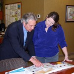 Gary C. Smith, NAEIR President & CEO with Kate Jennings, Staff Assistant to Illinois Senator Richard Durbin